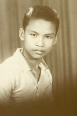 DAD BACK IN THE DAY - Ilocos Norte, Philippines (medium size, old shot, high school, white collared shirt)