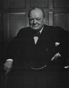 Churchill Smiles (by Yousuf Karsh)