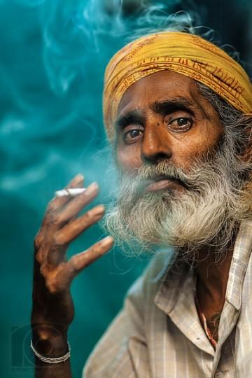 Indian Man Smoking (final large)